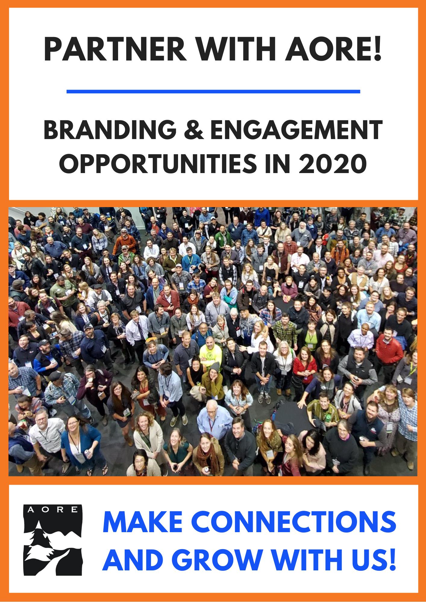 AORE BRANDING & ENGAGEMENT OPPORTUNITIES 2020