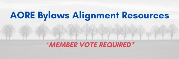 AORE Bylaws Alignment Resources