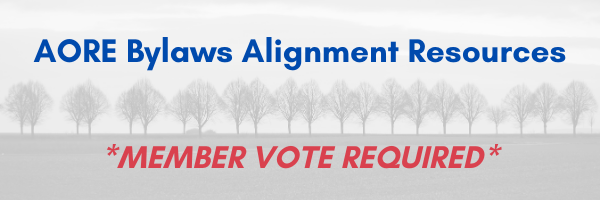 AORE Governance | Bylaws Alignment Resources