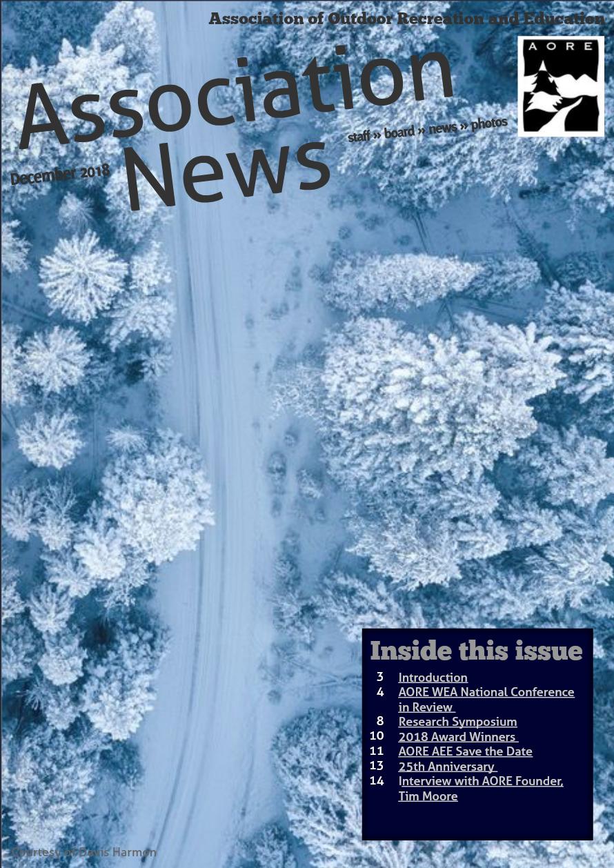 AORE Association News December 2018