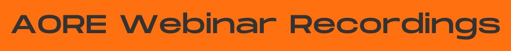 AORE webinar recordings header