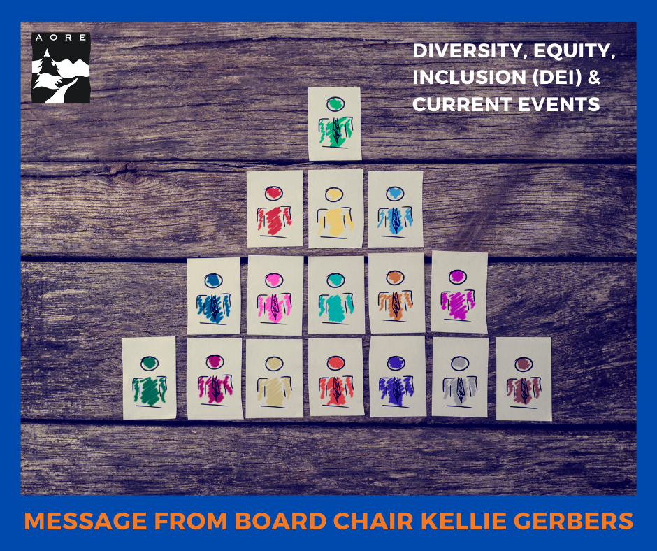 kellie gerbers dei current events message aore board chair